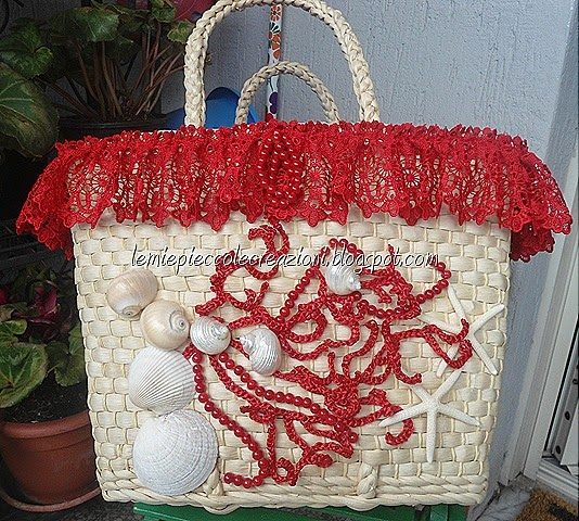 borsa mare di paglia