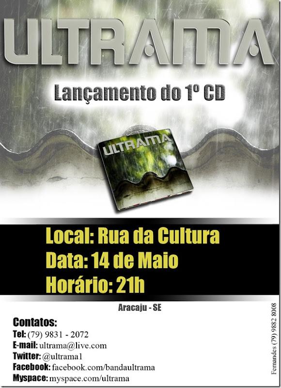 Banner de Lançamento do CD da Ultrama