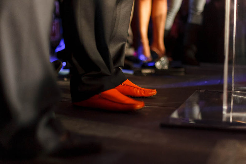 Ben McAdams orange shoes