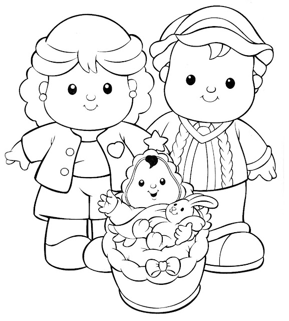 Dibujos de little people para colorear for Little people coloring pages