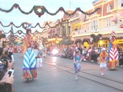Disney trip movers shakers walking on stilts