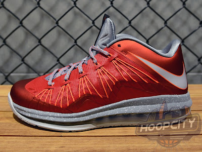 nike lebron 10 low gr ohio state 2 01 Upcoming Nike Air Max LeBron X Low University Red / Grey