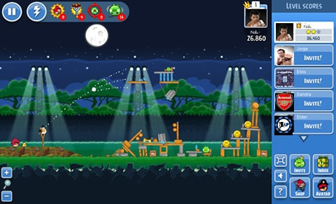 nuevo angry birds friends para facebook