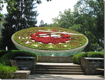 Floral Clock at Capitol in Frankfort, Ky.