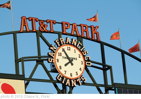 'AT&T Park Clock' photo (c) 2010, Chase N. - license: http://creativecommons.org/licenses/by-sa/2.0/