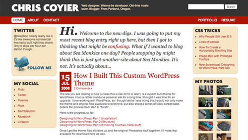 wordpress template design