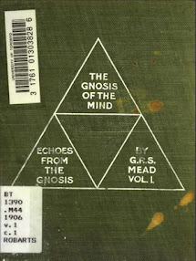 Cover of George Robert Stowe Mead's Book Echoes From The Gnosis Vol I The Gnosis Of The Mind