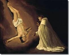 Aparición del apostol San Pedro a San Pedro Nolasco.Francisco de Zurbarán.179x223cm.