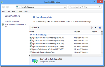 how to know if creators update is installed