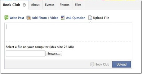 Facebook to Include File-Sharing For Groups