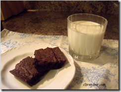 milk and brownies