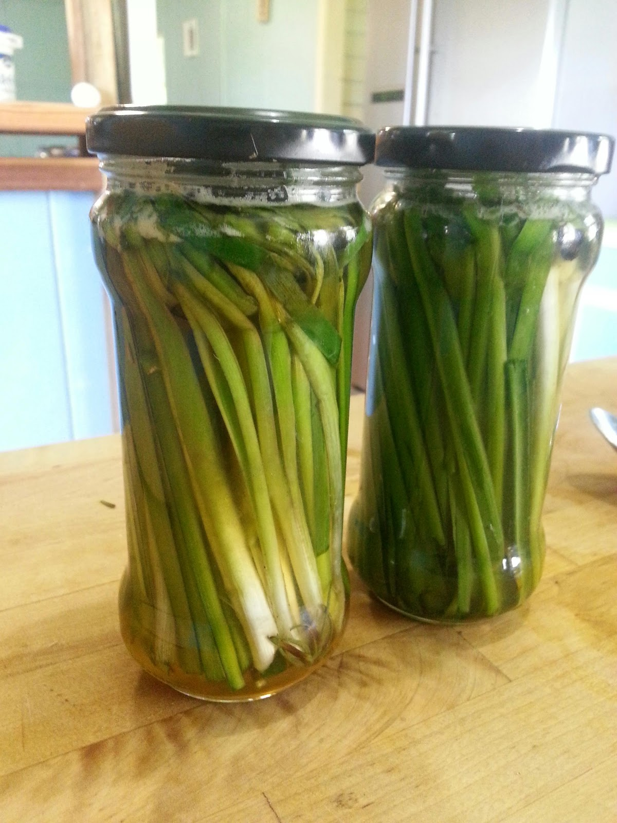 Nothing But An Apron: Honey and Rosemary Pickled Spring Onions