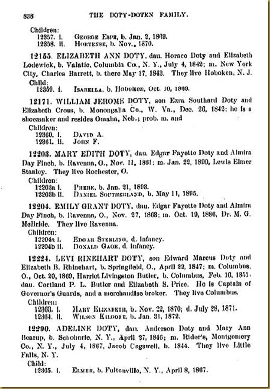 Doty-Doten Family In America-The Family of Joseph Doty214