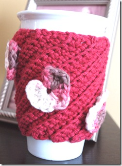Valentine's mug cozy