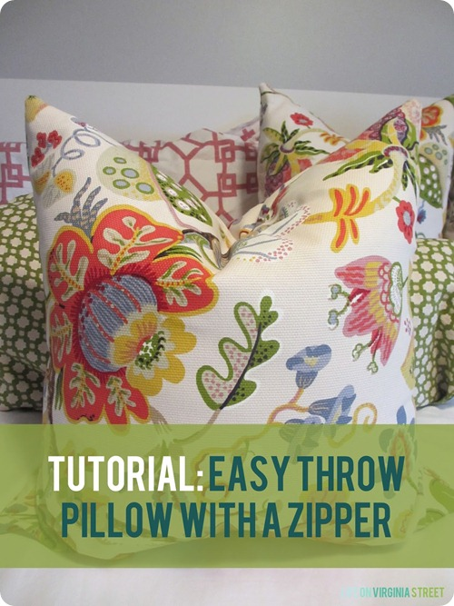 How to sew a zipper into pillow