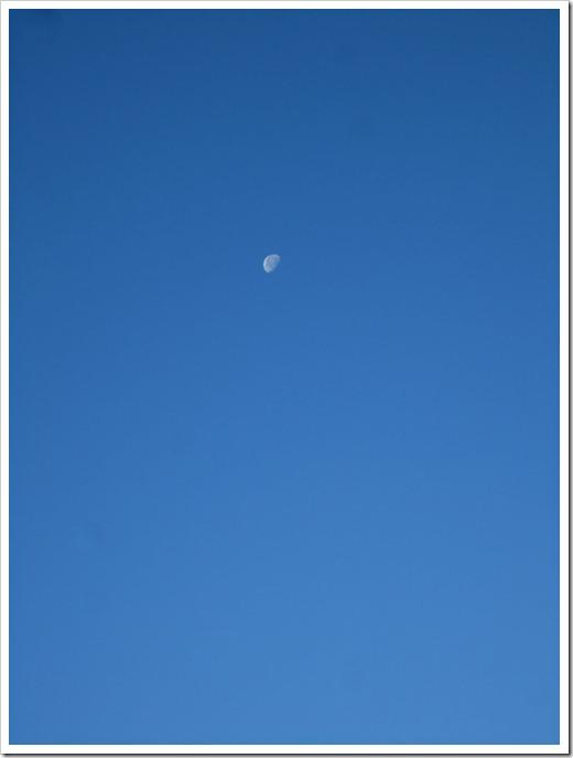 Tänk om jag nu haft med mig en bättre kamera. Men klarblåare himmel än så här kan man väl inte ha.