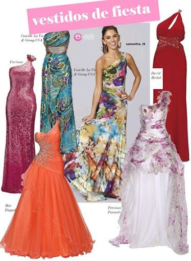 Vestidos de fiesta 2012 largos