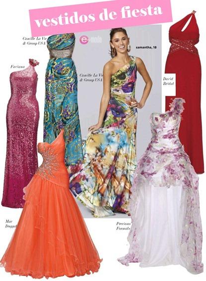 vestidos fiesta Primavera verano 2012