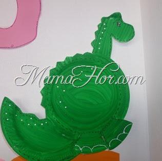 Manualidades para niños: Dragón con platos descartables