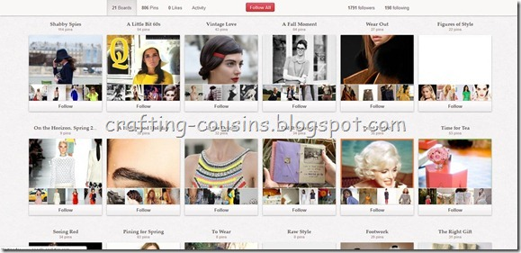 Pinterest follow board