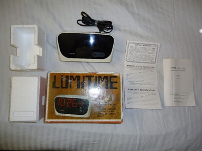 Lumitime CC-71 clock with box and contents