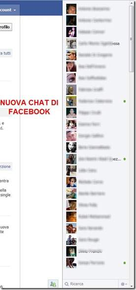 nuova chat facebook