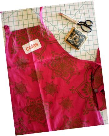 1. an apron