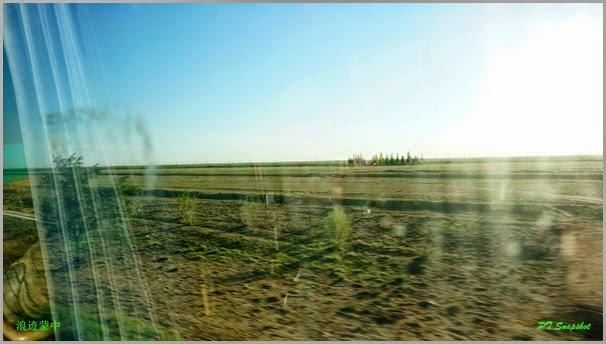 黄沙一片片的沙漠