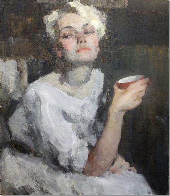 Portrait of A. Suvorovaa-Vadim-Suvorov-ENKAUSTIKOS