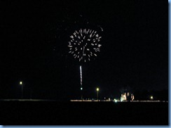 6615 Texas, South Padre Island - KOA Kampground - South Padre Island's New Years fireworks from our RV