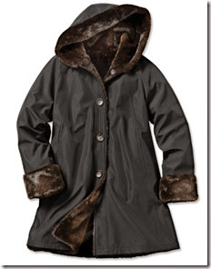 Orvis Faux Fur Coat to Raincoat