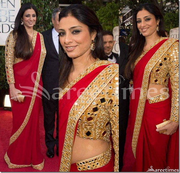 Tabu_Red_Saree