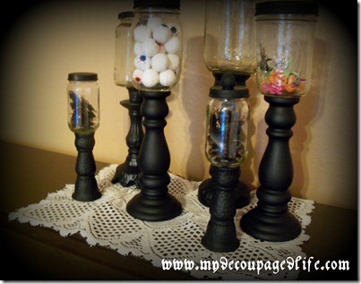 Halloween apothecary jars