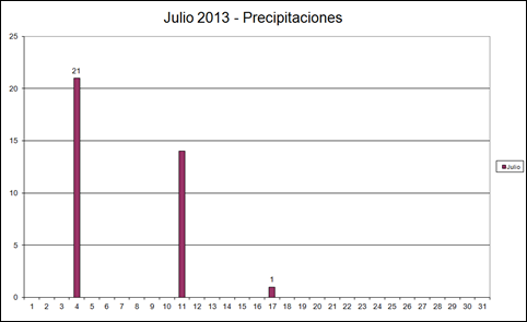 Precipitaciones (Julio 2013)