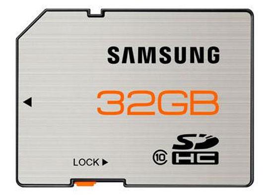 Cartão de Memória da Samsung com velocidade de 70 mb/s e 80 mb/s com capacidade de 8GB até 64 GB
