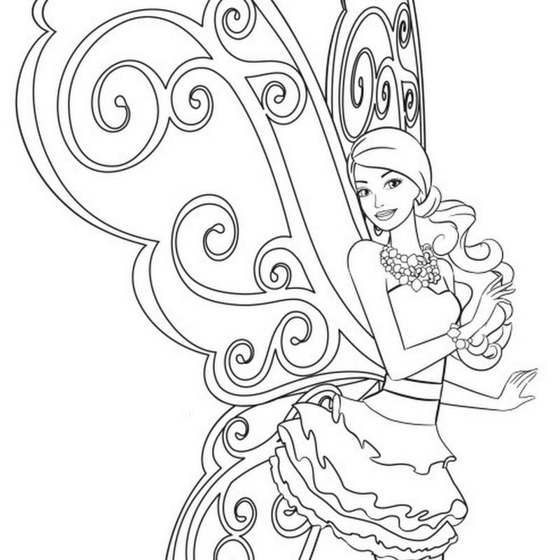 Desenho Barbie e o Segredo das Fadas  para pintar