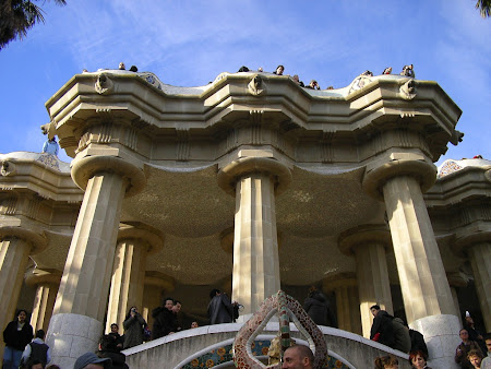 Obiective turistice Barcelona: Parcul Guell facut de Gaudi