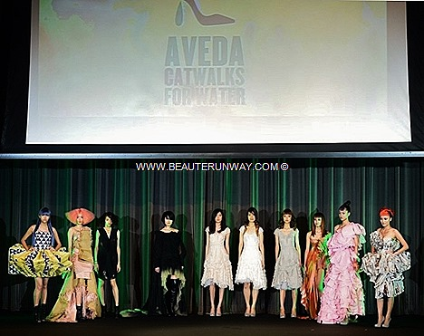AVEDA CATWALKS FOR WATER SPRING SUMMER 2013 TRENDS HAIR SHOW LIGHT THE WAY CANDLES EARTH MONTH CHARITY CAUSE trends, key looks colours Aveda botanical based high performance hair care beauty face body Fashion Runway Look