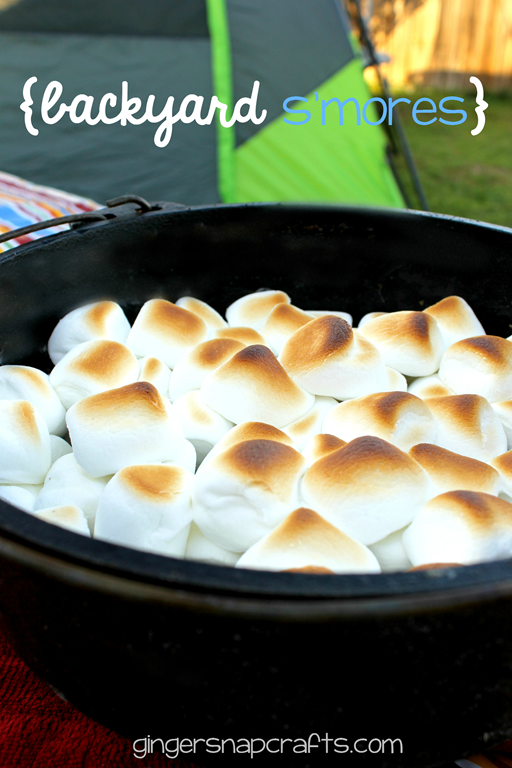 Backyard S'more Recipe at GingerSnapCrafts.com #collectivebias #shop