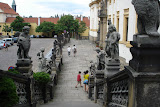 Stairway in front of the Loreta Church
