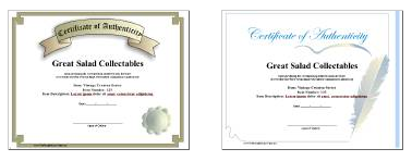 free certificate authenticity template
