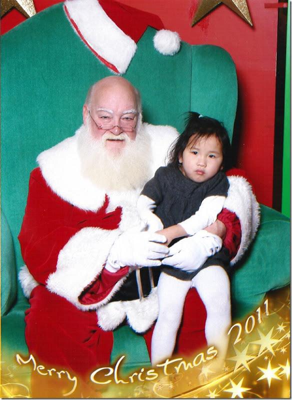 kalia with santa 2011