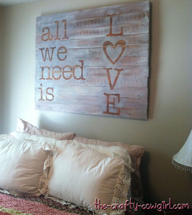 all we need is love pallet sign