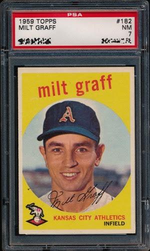 1959 Topps 182 Milt Graff