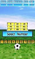 Screenshot of Target Kicker football game