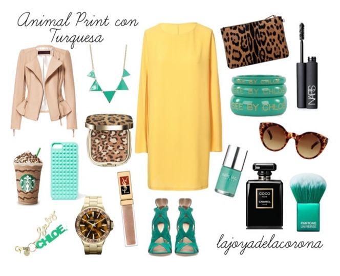 verde y leopardo