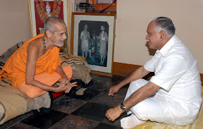 With Sri Vishwesha Theertha Swamiji of Pejawara Adhokshaja Matha