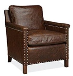 janette lee industires leather side chair