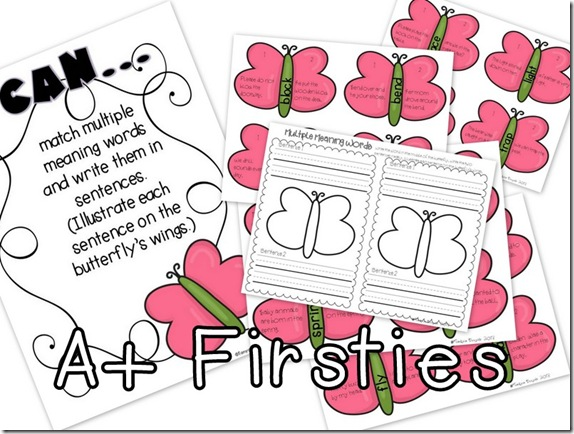 multiple meaning butterflies freebie 042313