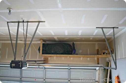 Nice Storage Above Garage Door